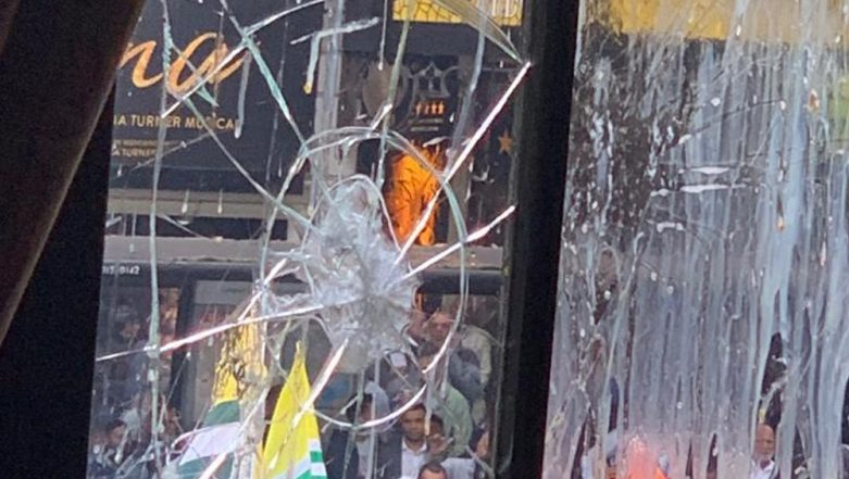 Indian High Commission in London Targeted Again, UK-Based Pakistanis Hold Violent Protest Over Kashmir Issue