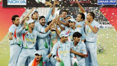 India's Victory Over Pakistan in ICC T20I World Cup 2007 Final Relived by Indian Cricket Fans, Twitter on Fire with Posts Celebrating MS Dhoni and Boys' Triumph