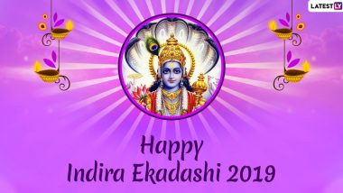 Indira Ekadashi 2019 Wishes & HD Images: WhatsApp Stickers, Photos, SMS, Greetings, GIFs and Messages to Wish on Festival Dedicated to Lord Vishnu