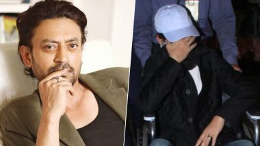 Irrfan Khan Spotted At the Mumbai Airport in a Wheelchair, Angrezi Medium Actor Hides His Face from the Paparazzi (Watch Video)