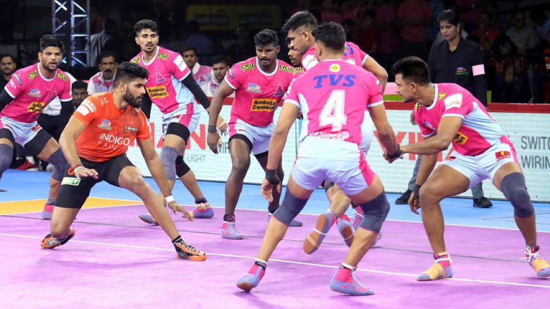 PKL 2019 Dream11 Prediction for Jaipur Pink Panthers vs Gujarat Fortunegiants: Tips on Best Picks for Raiders, Defenders and All-Rounders for JAI vs GUJ Clash