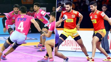 Jaipur Pink Panthers vs Gujarat Fortunegiants PKL 2019 Match Free Live Streaming and Telecast Details: Watch JAI vs GUJ, VIVO Pro Kabaddi League Season 7 Clash Online on Hotstar and Star Sports