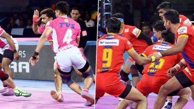 Jaipur Pink Panthers vs UP Yoddha PKL 2019 Match Free Live Streaming and Telecast Details: Watch JAI vs UP, VIVO Pro Kabaddi League Season 7 Clash Online on Hotstar and Star Sports
