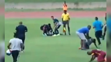 Jamaica College Boys Struck by Lightning During Football Match, Frightening Incident Video Goes Viral on Social Media!