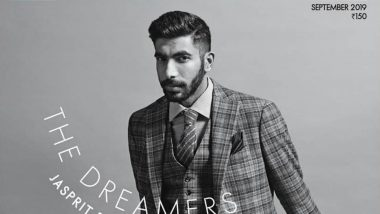Jasprit Bumrah Looks Dapper on the Cover of Elle India Magazine, See Pic and Videos of Indian Pacer Posing Like a Pro!
