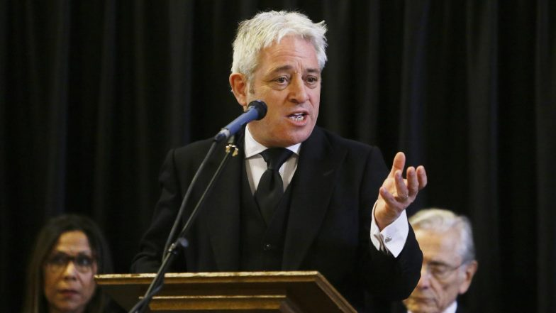 UK Parliament Speaker John Bercow Says Will Step Down by October 31