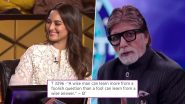 Amitabh Bachchan's Cryptic Tweet on 'Wise Man' and 'Foolish Question' Looks Like a Message For Trolls Slamming Sonakshi Sinha For KBC 11-Ramayana Episode
