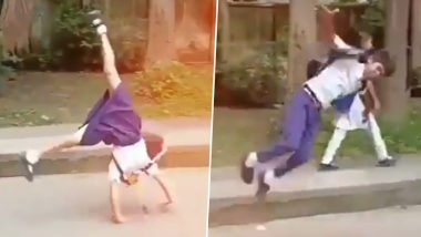 Somersaulting School Kids Jashika Khan and Mohd Eizazuddin to Join Sports Authority of India as Trainees After Video Goes Viral