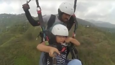 'Land Kara De' Viral Video Just Got Its Child Version but the Kid's Brave Paragliding Act and Cuteness Will Bring a Smile to Your Face