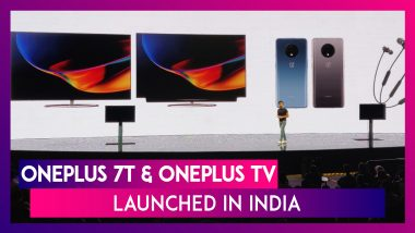 OnePlus 7T & OnePlus TV Launched In India; Check Prices, Features, Sale Date & Specifications