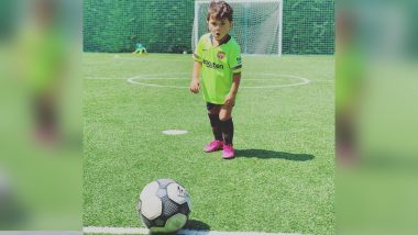 Lionel Messi's Son Mateo Storms the Internet With His Football Skills (Watch Video)