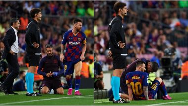 Lionel Messi Injury Latest Update: Barcelona Sweat over Result of Star Forward's Medical Test Following the Knock against Villarreal