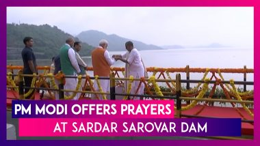 PM Narendra Modi Turns 69, Offers Prayers At Sardar Sarovar Dam In Gujarat