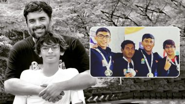 R Madhavan Is a Proud Father as His Son Vedaant Clinches Silver in a Swimming Championship (View Pic)