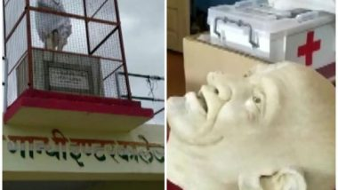 UP: Mahatma Gandhi Statue Vandalised in Sri Gandhi Inter College by Unidentified Miscreants