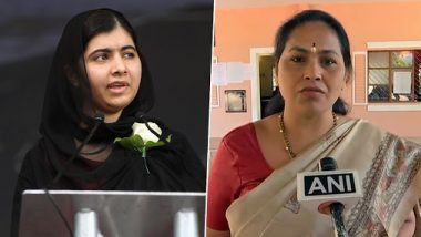 BJP Lawmaker Shobha Karandlaje Lambastes Malala Yousafzai Over Tweets on Jammu And Kashmir, Asks Her to Raise Concern For Minorities in Pakistan