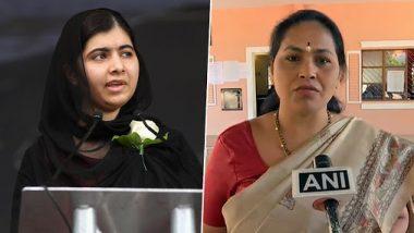 BJP Lawmaker Shobha Karandlaje Lambastes Malala Yousafzai Over Tweets on Jammu And Kashmir, Asks Her to Raise Concern For Minorities in Pakistan