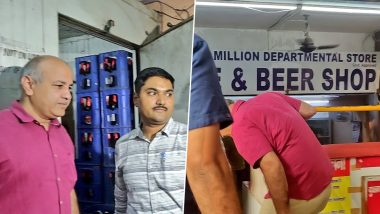 Manish Sisodia, Along With Delhi Excise Officials, Raids Illegal Alcohol Outlets Running in Disguise of Departmental Stores
