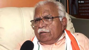 Kashmir's Integration Will Ensure We Don't Receive Our Brave Sons in Coffins, Says Haryana CM Manohar Lal Khattar