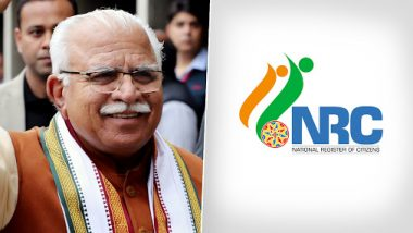 NRC in Haryana: Manohar Lal Khattar Govt to Implement National Register of Citizens After Maharashtra Announces Detention Centre for Illegal Immigrants