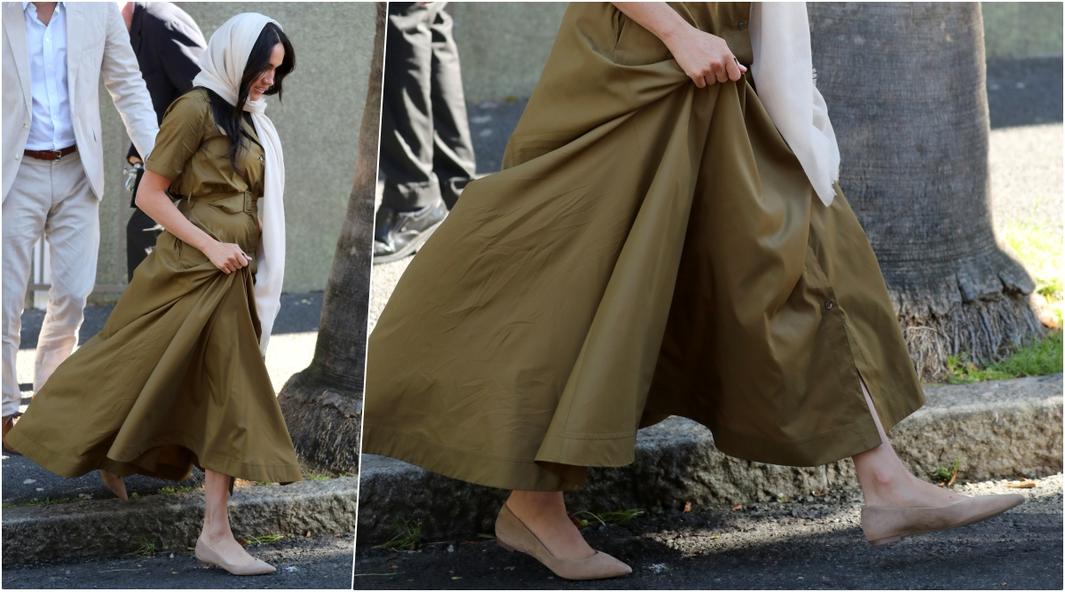 USD 100! That's Price of Meghan Markle's Oatmeal Suede Flats She Wore During Royal Tour in South Africa