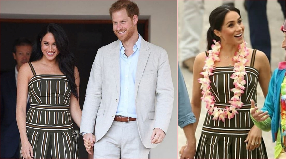 Meghan Markle Repeats Martin Grant Dress for First Royal Vacation As Family With Prince Harry and Baby Archie