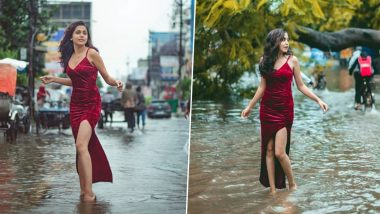 Bihar Floods: 'Mermaid in Disaster' Photoshoot in Flood-Ravaged Patna Draws Mixed Reviews As NIFT Student Poses on Waterlogged Streets, See Pics