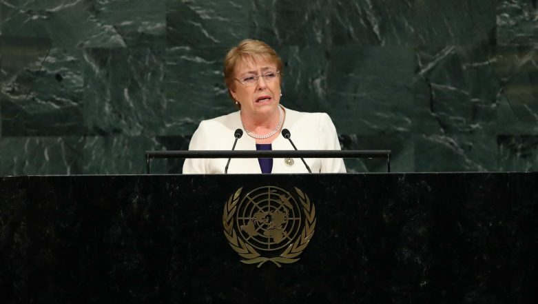 UN Rights Chief Michelle Bachelet Asks India, Pakistan to Respect and Protect Human Rights of Kashmiris