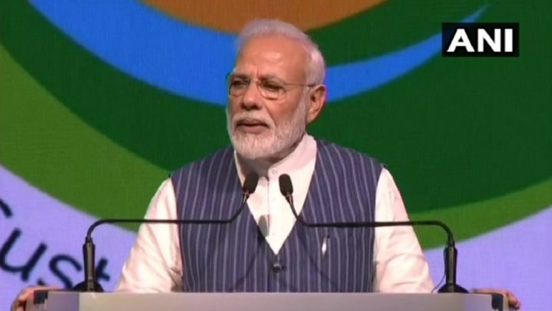 UNCCD COP14: PM Modi Addresses UN Anti-Desertification Meet, Says 'India Will Put End to Single-Use Plastic'