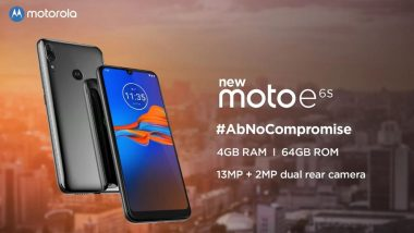Moto E6S Smartphone With Dual Rear Camera To Be Launched in India On September 16; Expected Prices, Features & Specifications