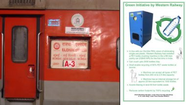 Indian Railways Install 1st Plastic Bottle Crushing Machine in Mumbai-Delhi Rajdhani Express