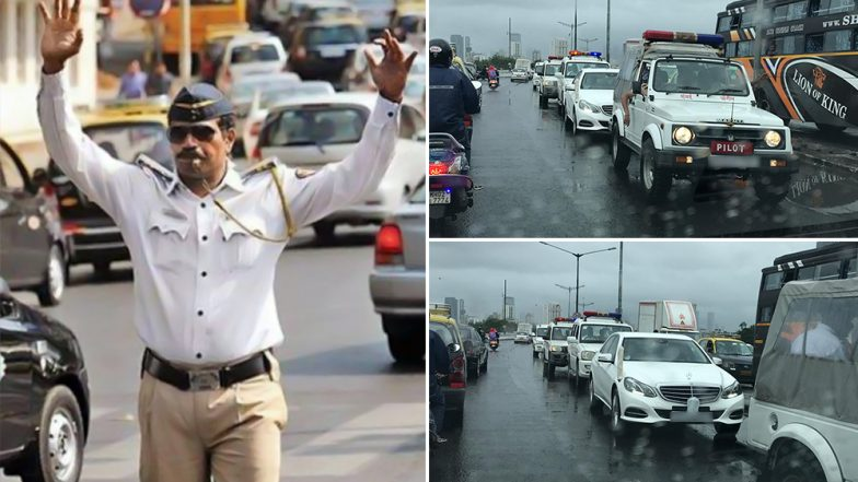 Motor Vehicle (Amendment) Act, 2019 Not Applicable to VIPs? Video Shows 'VIP' Car Moving On Wrong Side While Mumbaikars Struggles on Flooded Roads, Twitterati Fume