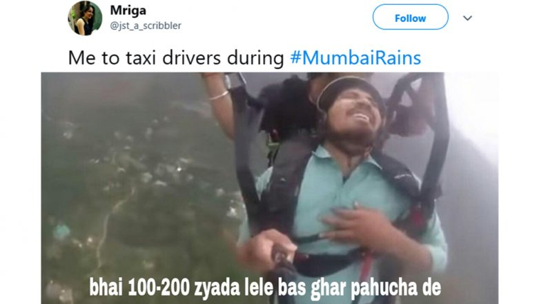 As Mumbai Rains Cripple City Once Again, Netizens Make Funny Jokes and Memes to Brighten the Dull Mood (Check Funny Tweets)