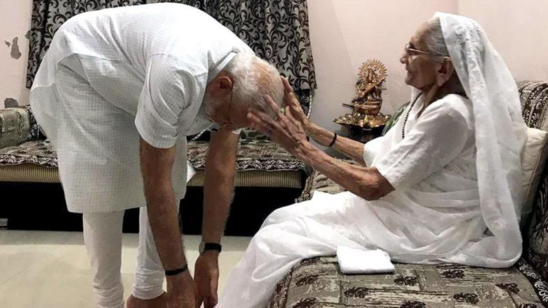 Narendra Modi's 69th Birthday to Start With His Mother Heeraben Modi's Blessing