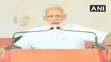 PM Modi Launches BJP Poll Blitz in Haryana's Rohtak; Invokes 'ISRO Spirit', Article 370 Repeal in Jammu & Kashmir
