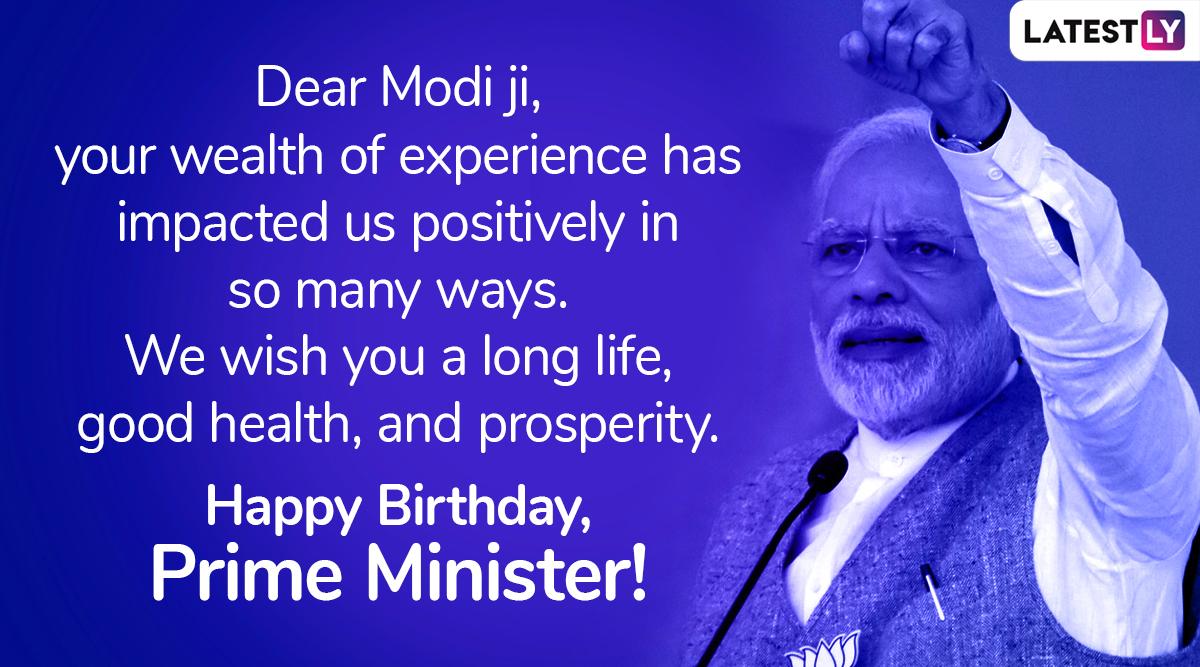 Birthday wish for PM Narendra Modi, Image 1 (Photo Credits: File Image)