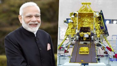 Chandrayaan 2: 'Excited' Narendra Modi Urges Citizens to Watch Moon Landing by Lander Vikram, Says Mission Will Benefit Crores of Indians