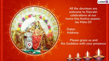 Navratri 2019 Invitation Card Formats: WhatsApp Messages and Images to Invite People For Devi Maa Darshan