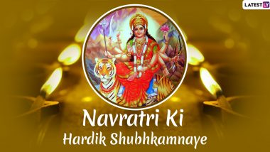 Sharad Navratri 2020 Greetings in Hindi: WhatsApp Stickers, Maa Durga Images, GIF Messages, Quotes, SMS and Photos to Wish Family and Friends