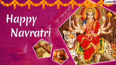 Navratri 2019 Messages in Hindi: WhatsApp Stickers, Maa Durga Images, GIF Greetings, Quotes, SMS and Photos to Wish Family and Friends