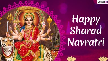Happy Navratri 2019 Greetings and Wishes: WhatsApp Stickers, SMS, Maa Durga Images, Quotes, GIFs, Facebook Photos and Insta Captions to Share During Sharad Navaratri