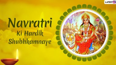 Sharad Navratri 2020 Images & Ghatasthapana HD Wallpapers for Free Download Online: Wish Happy Navaratri With New WhatsApp Messages and GIF Greetings