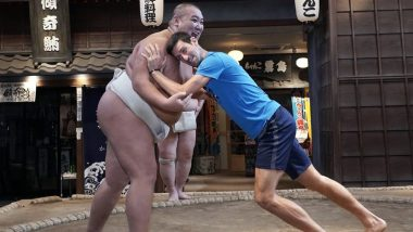 Novak Djokovic Enjoys Day Out With Sumo Wrestlers Amid Ongoing Japan Open 2019 (View Pic and Video)