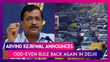 Odd-Even Rule Back Again in Delhi; Arvind Kejriwal Announces 7-Point Action Plan to Tackle Pollution