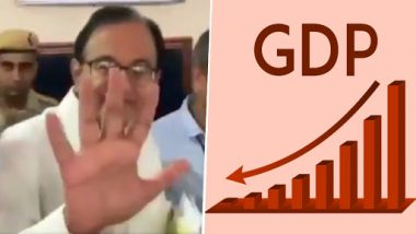 'What is 5%': P Chidambaram Mocks Narendra Modi Govt on Falling GDP When Questioned by Media Outside Delhi Court; Watch Video