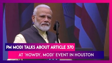 'Howdy, Modi': Article 370 Deprived J&K Of Development, People Now Have Equal Rights, Says PM Modi