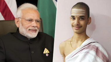 PM Narendra Modi Congratulates 16-Year-Old Priyavrata, Who Studied All Vyakarana Maha Granthas and Became Youngest to Clear Tenali Maha Pariksha