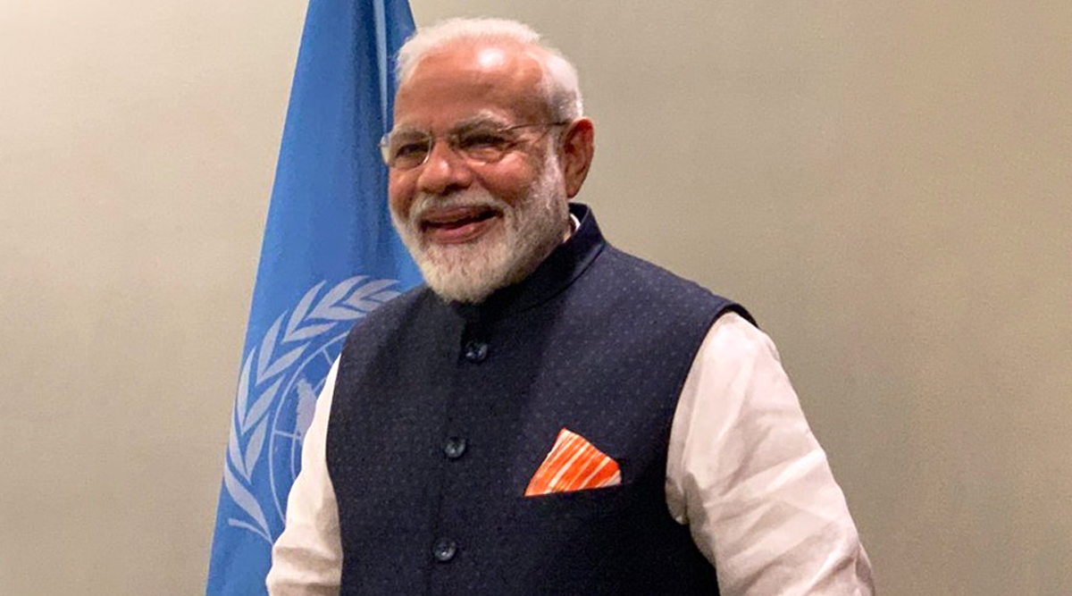 Narendra Modi Speech at UNGA: Built 11 Crore Toilets in 5 Years, Committed to Movement Against Single Use Plastic, Says India's Prime Minister