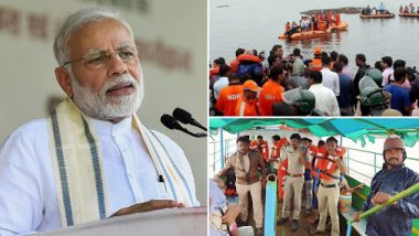 PM Narendra Modi Offers Condolences on Andhra Pradesh Boat Capsize That Claimed 11 Lives, Tweets in Telugu to Express Grief