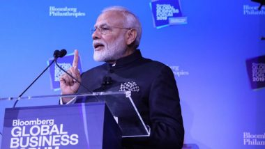PM Narendra Modi Woos Investors at Bloomberg Global Business Forum, Says 'If You Want to Make in India, Come to India'